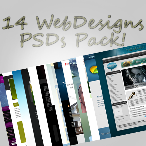 14 web design PSD templates