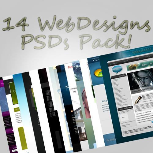 14 web design PSD templates