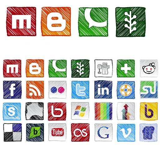 grunge-social-icons