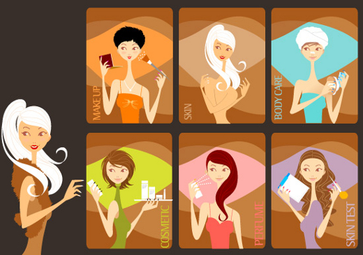 beauty-girls-card-templates