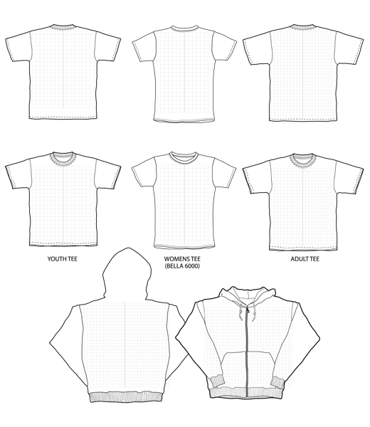 Clothes vector images for Clothing templates for illustrator