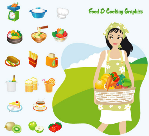 food-cooking-vector-icons