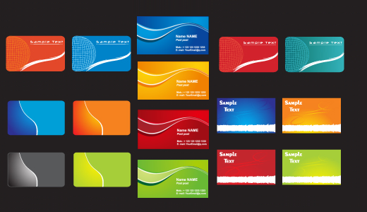 Free Vector Business Card Templates Free Vector In Encapsulated Top - Calling card template free download