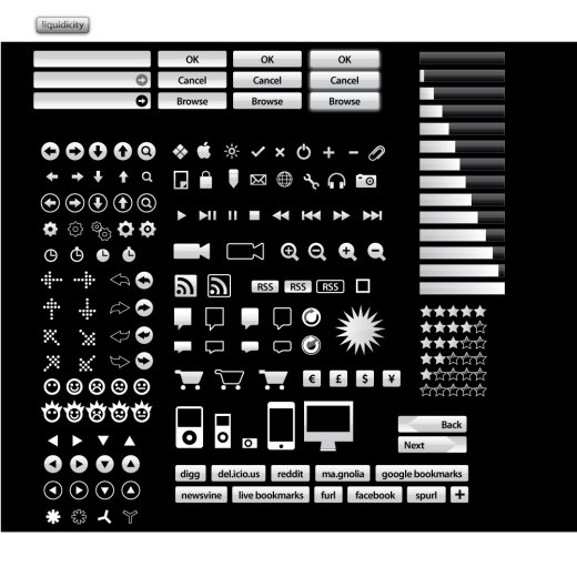 white vector icon set