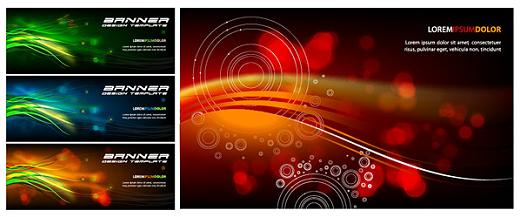 vector full color banners