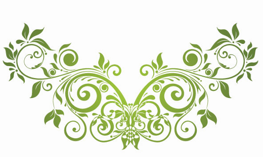 green-vector-floral-ornament