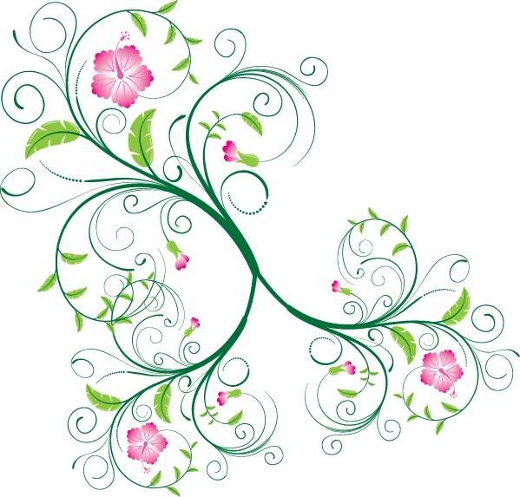 green-vector-flower-ornament
