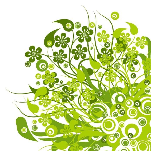 green-vector-flowers