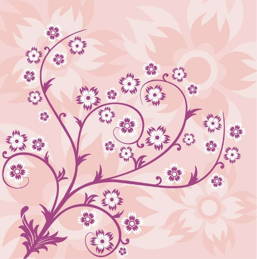 pink-vector-floral-ornament