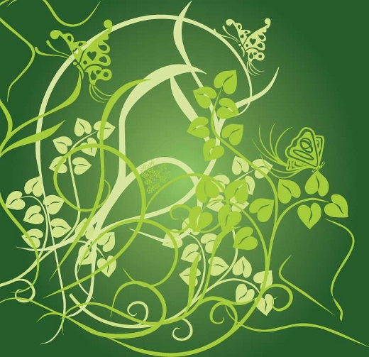 vector-green-flowers