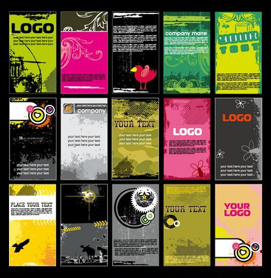 Business Cards Grunge Vector