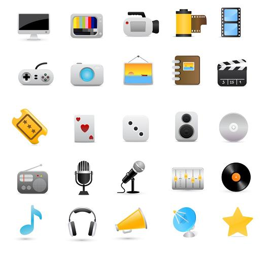vector-multimedia-icons