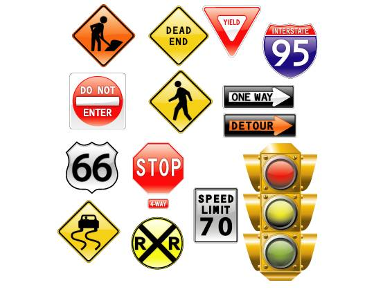vector-road-signs