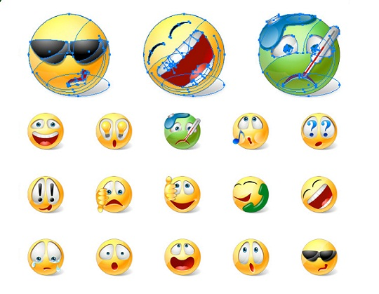 Vector Funny Emoticons