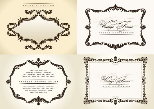 ... : elegant vector frames, eps frames, free vector frame, retro frames