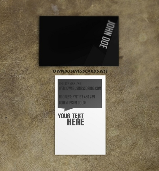 black-business-card-template