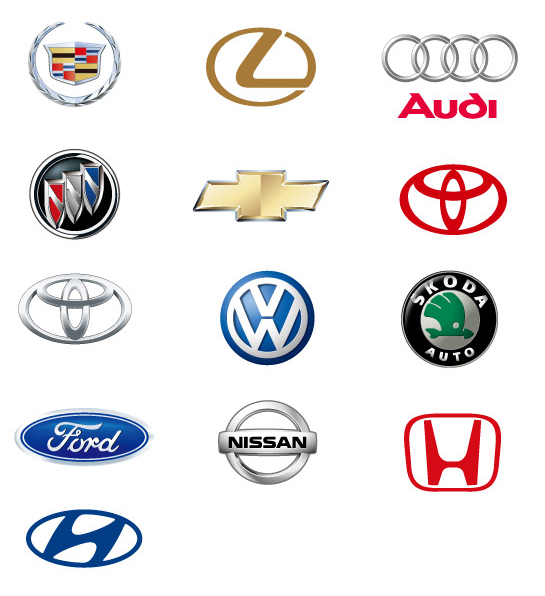 Vector Logo Templates Of Car Companies
