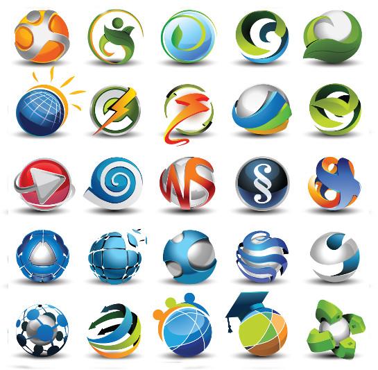Creative glossy logo templates