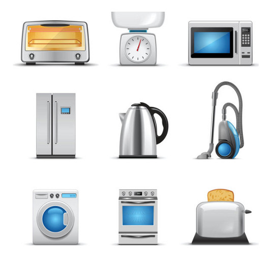 Free Vector Kitchen Icons for Download