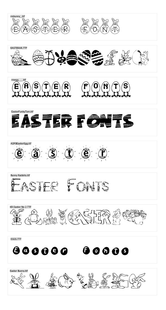 Free Easter Fonts Pack (10 Beautiful Fonts)