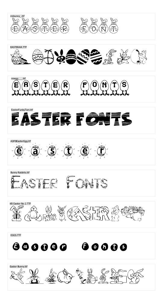 easter-fonts