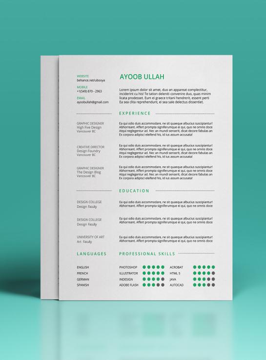 Vector Creative Curriculum Vitae Template