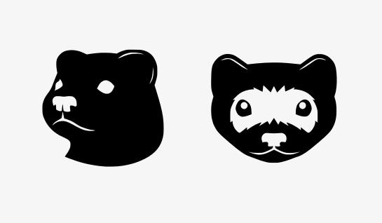 ferret heads vector